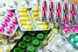Pile of pills in blister packs